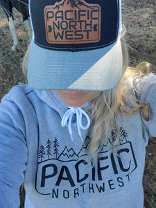 Pacific Northwest Mountains and Trees Hoodie