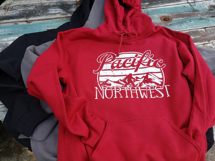 Pacific Northwest Bigfoot Hoodie