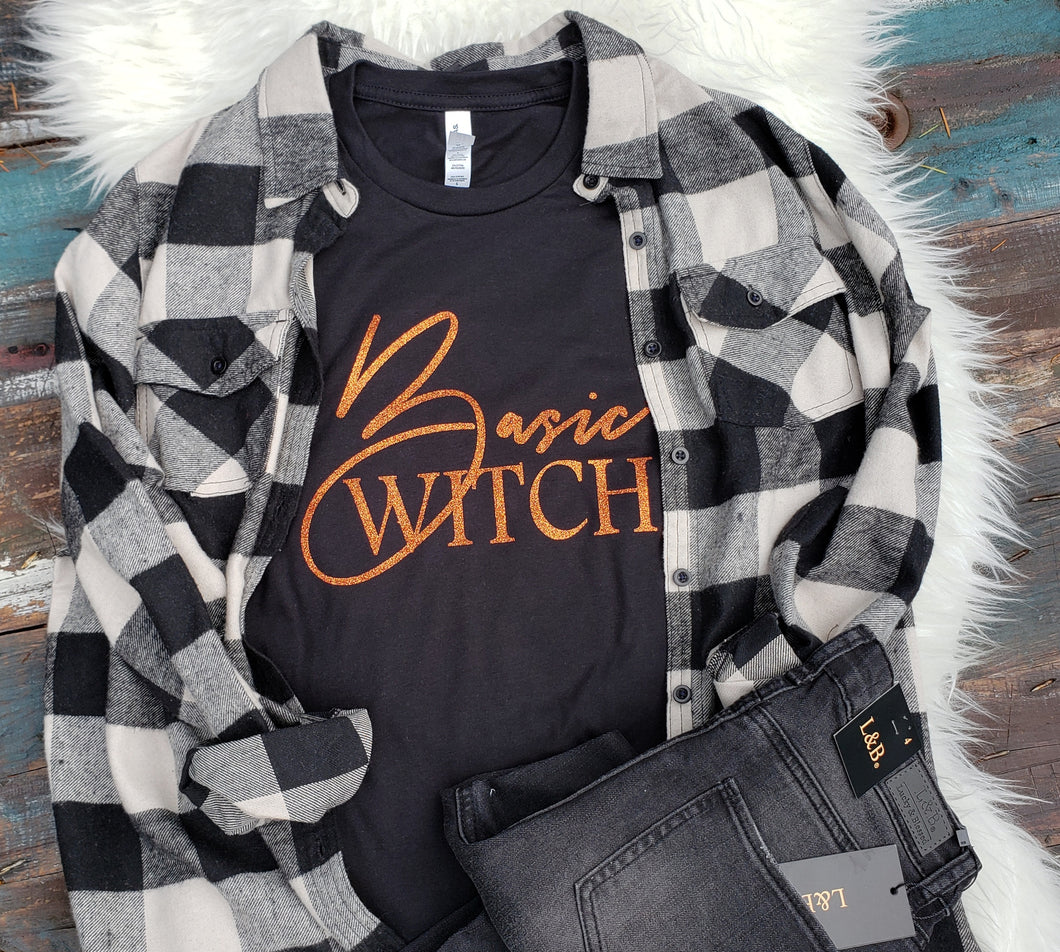 Basic Witch glitter T shirt