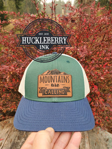 PNW Mountains are calling, Richardson Leather Patch Hat