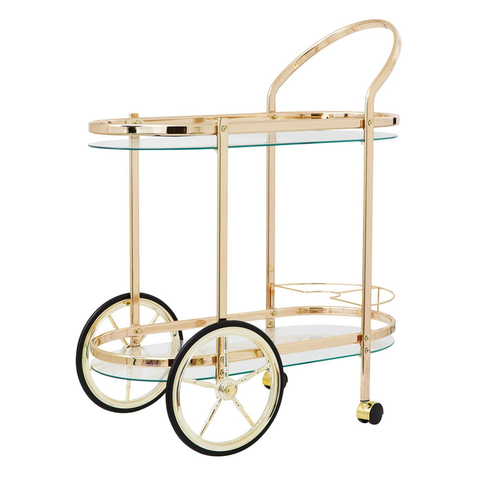 Rose Gold Cocktail Cart