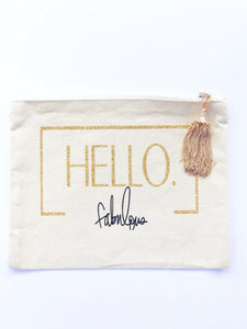 Canvas Makeup Bag with Hello Fabulous