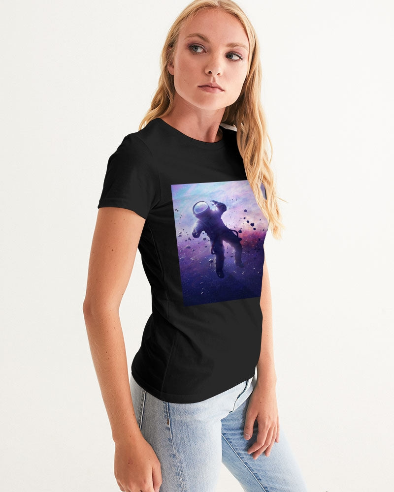 "Womens Exclusive ""Galaxy High"" LE Graphic Tshirt - SNEAKERHEADS Clothing Line"