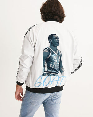 "Exclusive ""University Blue G.O.A.T."" Men's Bomber Jacket - SNEAKERHEADS CLOTHING LINE"