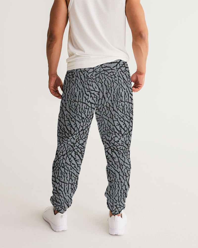 "Exclusive ""Elephant Print (Grey 2)"" Men's Track Pants - SNEAKERHEADS CLOTHING LINE"