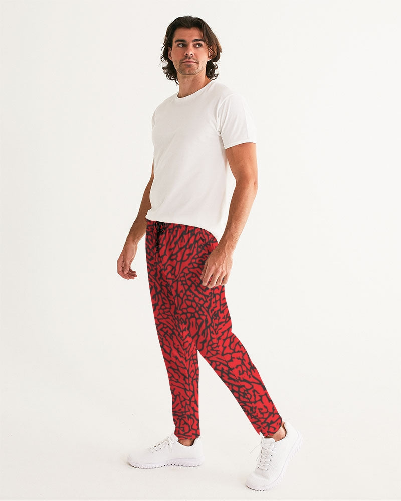"Exclusive ""Elephant Print (Red)"" Men's Joggers - SNEAKERHEADS CLOTHING LINE"