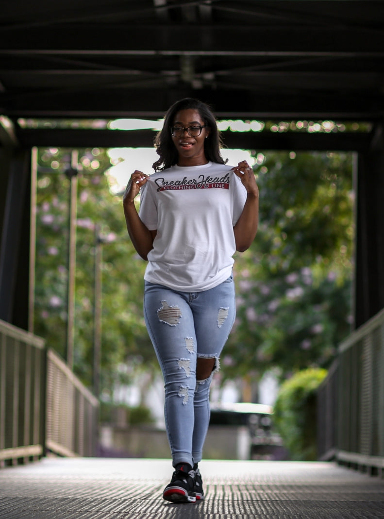 Exclusive SNEAKERHEADS CLOTHING LINE LE Shirt (White) - SNEAKERHEADSCLOTHINGLINE