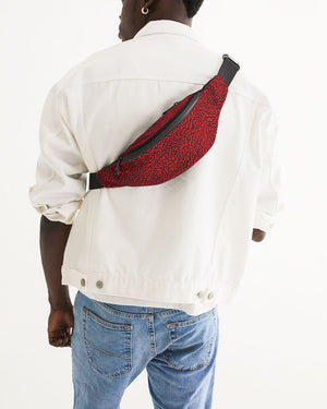 "Exclusive ""Elephant Print (Red)"" Crossbody Sling Bag - SNEAKERHEADS Clothing Line"