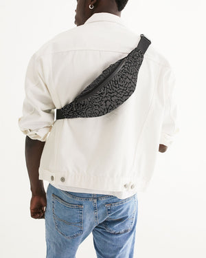 "Exclusive ""Elephant Print (Grey) Crossbody Sling Bag - SNEAKERHEADS Clothing Line"