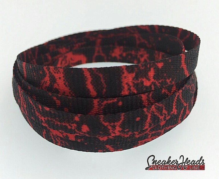 Exclusive RED STORM LE Custom Shoelaces - SNEAKERHEADSCLOTHINGLINE