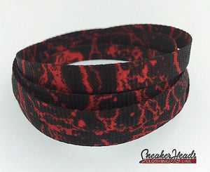 Exclusive RED STORM LE Custom Shoelaces - SNEAKERHEADS Clothing Line