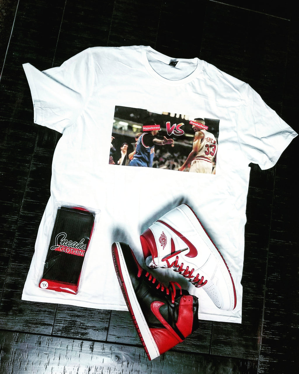 Exclusive SNEAKERHEAD vs HYPEBEAST 2.0 Shirt (sample) - SNEAKERHEADS CLOTHING LINE