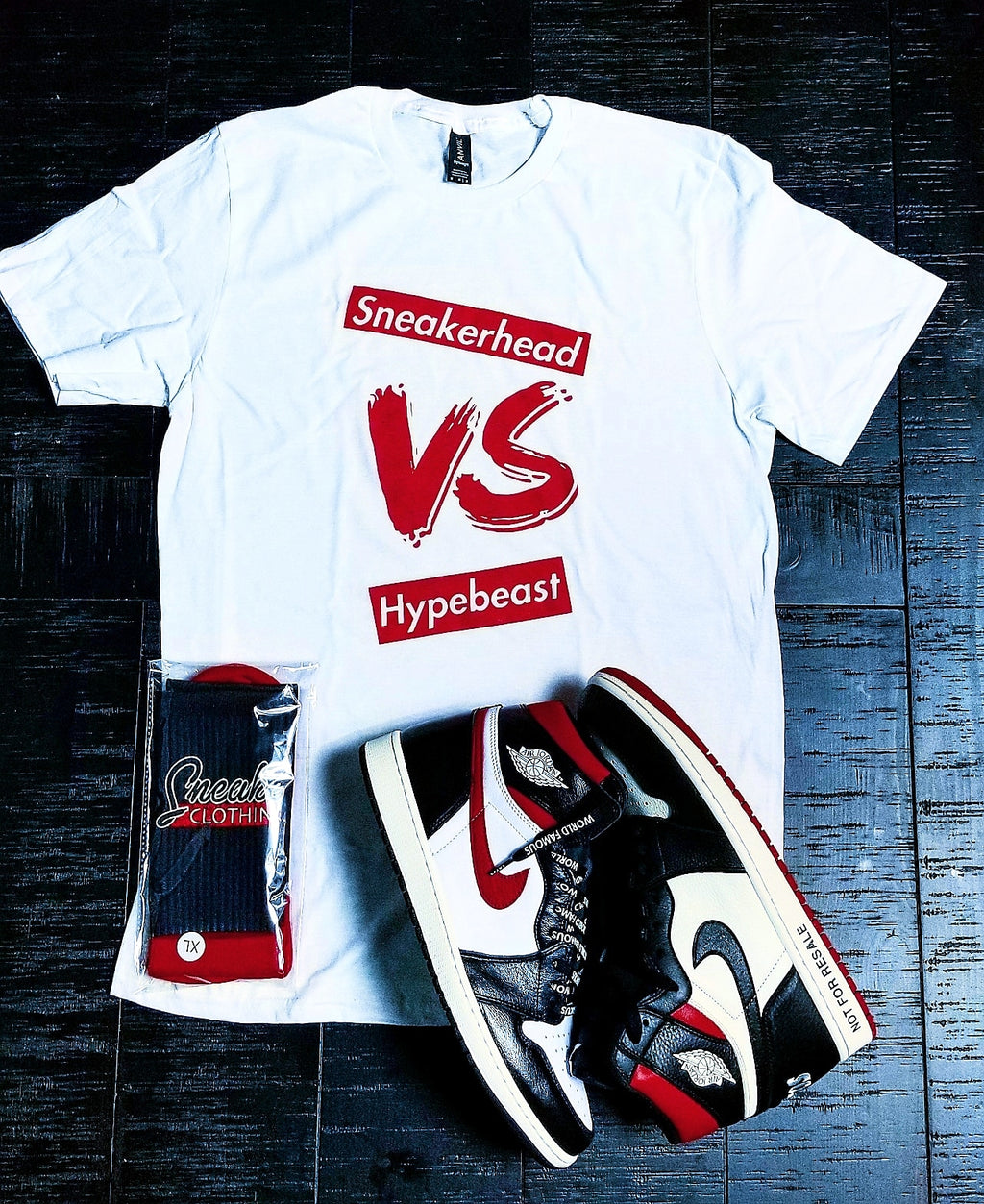 EXCLUSIVE SNEAKERHEAD vs HYPEBEAST LE Tshirt (White) - SNEAKERHEADSCLOTHINGLINE
