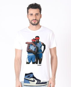 "Exclusive ""SNEAKERHEAD vs HYPEBEAST (UNC)"" LE Shirt - SNEAKERHEADS Clothing Line"