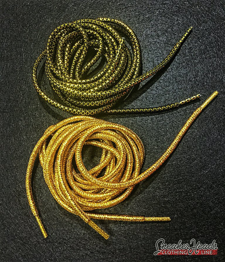 "Exclusive ""Golden Fleece Pack"" Custom Rope Laces - SNEAKERHEADSCLOTHINGLINE"