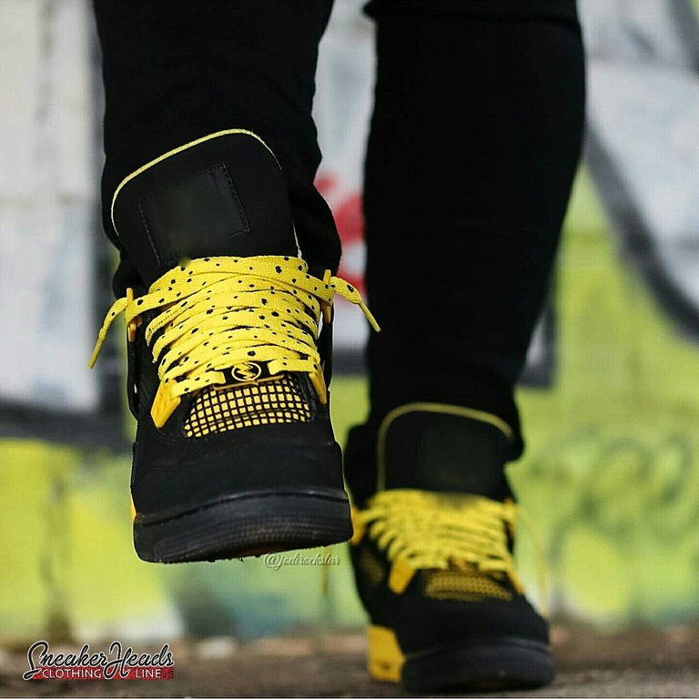 "Exclusive ""THUNDER/LIGHTNING"" LE Custom Shoelaces - SNEAKERHEADSCLOTHINGLINE"