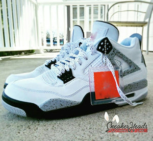 Exclusive WHITE CEMENT LE Custom Shoelaces - SNEAKERHEADS Clothing Line