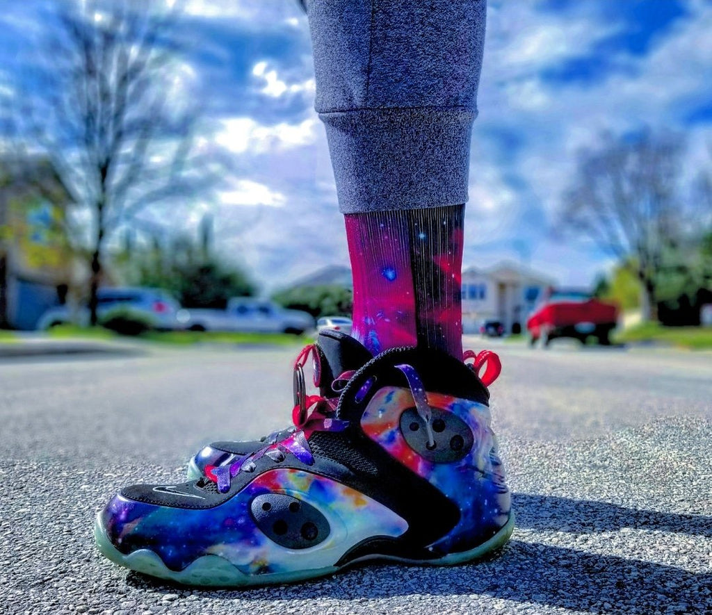"Exclusive ""Galaxy"" LE Custom Shoelaces - SNEAKERHEADS Clothing Line"