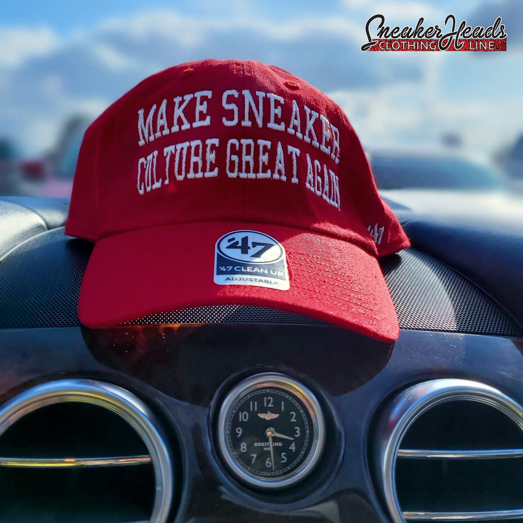 "Exclusive ""Make Sneaker Culture Great Again"" LE Dad Hat (47 Brand Collaboration) - SNEAKERHEADS CLOTHING LINE"