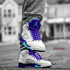 Exclusive GRAPES LE Custom Shoelaces - SNEAKERHEADSCLOTHINGLINE