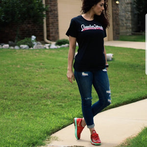 Womens Exclusive #SNEAKERHEADS CLOTHING LINE Slim-Fit Shirt - SNEAKERHEADSCLOTHINGLINE