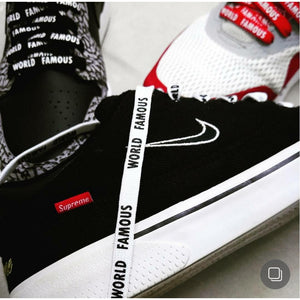 "Exclusive ""WORLD FAMOUS"" LE Custom Shoelaces - SNEAKERHEADS Clothing Line"