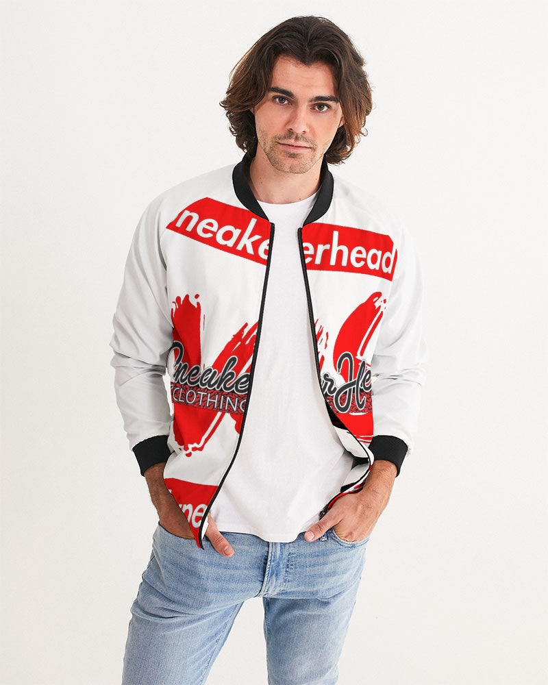 "Men's ""Sneakerhead vs Hypebeast"" Bomber Jacket - SNEAKERHEADS CLOTHING LINE"