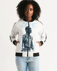 "Exclusive ""University Blue GOAT"" Women's Bomber Jacket - SNEAKERHEADS CLOTHING LINE"