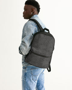 "Exclusive ""Elephant Print (Grey)"" Small Canvas Backpack - SNEAKERHEADS Clothing Line"