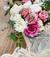 Creating a tablescape using a Grace Rose Farm Bouquet