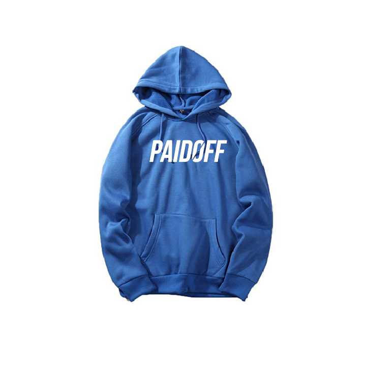Blue Paid Off Signature Hoodie
