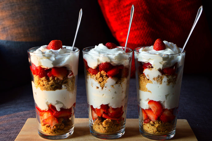 Berry and vanilla mascarpone parfaits