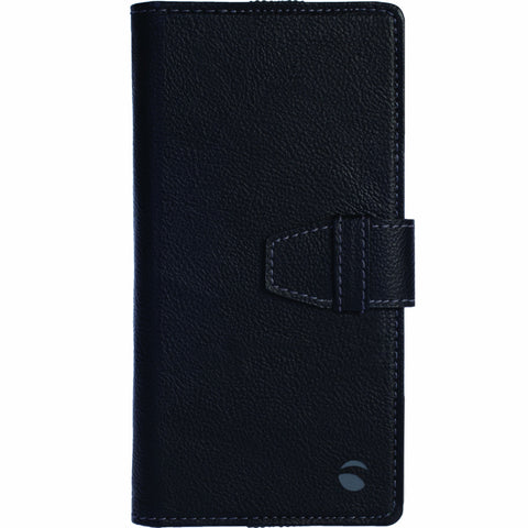 Wallet case in black PU leather for all phones (Vargon WalletCase)