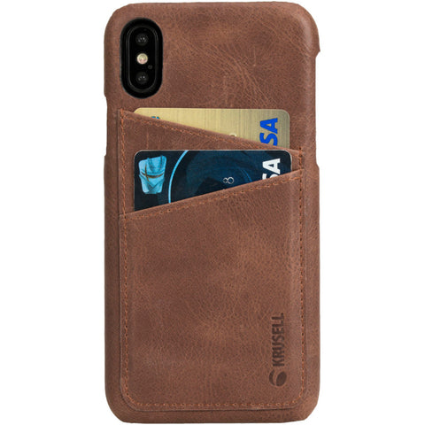 iPhone X Cover in Genuine Leather with 2 Pockets (Sunne 2 Card Cover)