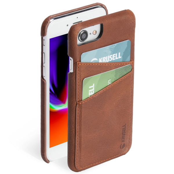 iPhone 6/6s/7/8 : Cover in Genuine Leather, 2 Pockets (Sunne 2 Card Cover)