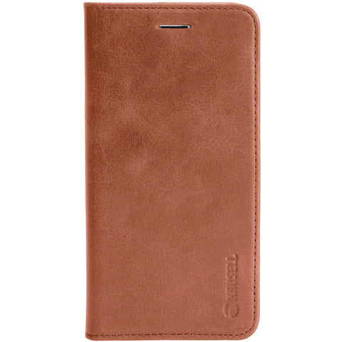 iPhone 7 Plus & 8 Plus : Flip Case Genuine Leather 4 Pockets (Sunne 4 Card FolioCase)