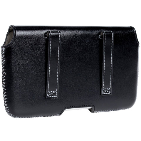 Hector Horizontal Belt loop case in Genuine Leather