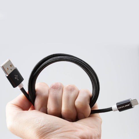 USB cable to Micro-USB, strong and nice braided cable in black nylon