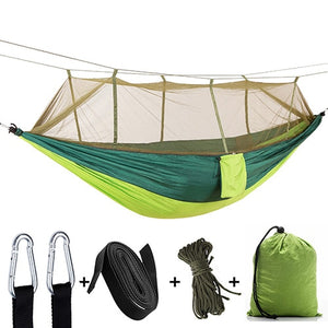 1-2 Person Portable Outdoor Camping Hammock with Mosquito Net