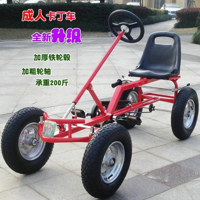 16 inch wheel adult go-karts, with hand brake adult pedal