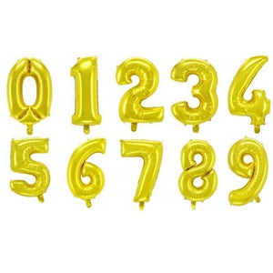 1pc 40inch Gold Black Foil Number Balloons