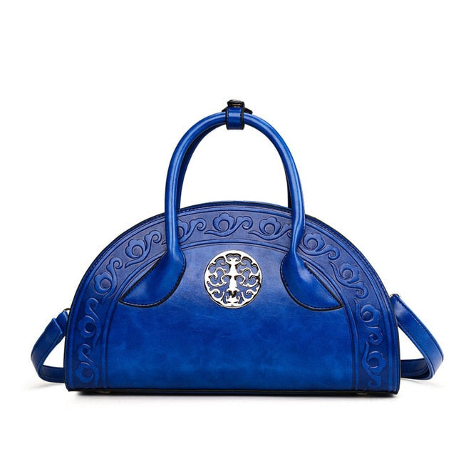 Chinese  High Quality PU Leather Embossed Handbag