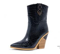 Wide Calf Pointed Toe Western Cowboy Boot