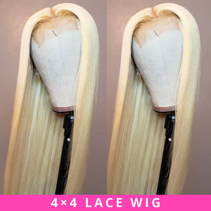 Straight Blonde Wig with closure