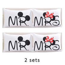 Cute Mickey Mouse Couple Pillow Case