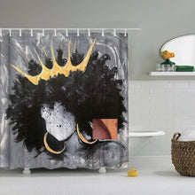 Dafield Gray Black 3D Digital Printing Shower Curtains