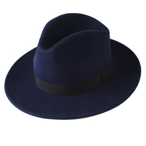 FURTALK Fedora Hat for Women Men 100% Australian Wool Felt Wide Brim Hat Vintage Jazz Fedora Hat Couple Cap Winter chapeau femme