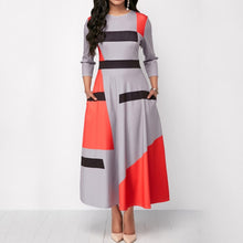 Geometric Patchwork Long Dress