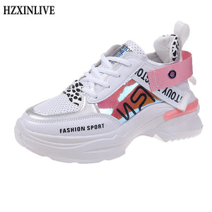 Hand Panted Pink Sneakers