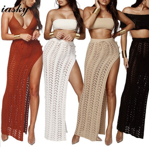 New Crochet High Split Swimsuit cover ups